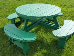 Green Recycled Plastic Composite Picnic Tables