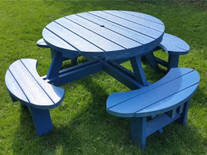 Round Recycled Plastic Composite Picnic Tables
