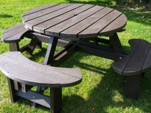 Brown Recycled Plastic Composite Picnic Tables